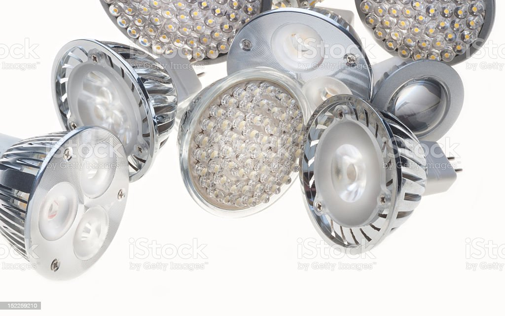 Here are quite a few LED lights that we have in stock  royalty-free stock photo