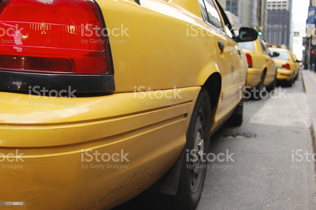 Here are the cabs stock photo