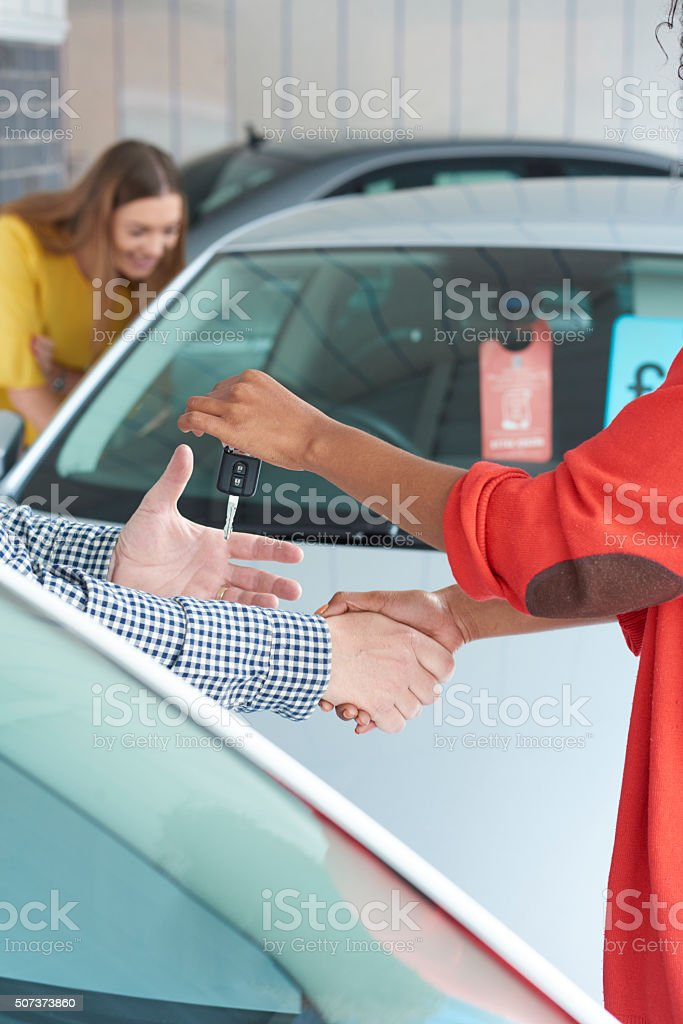 here are the keys to your new car stock photo