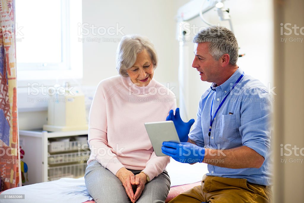 'Here are your results...' stock photo