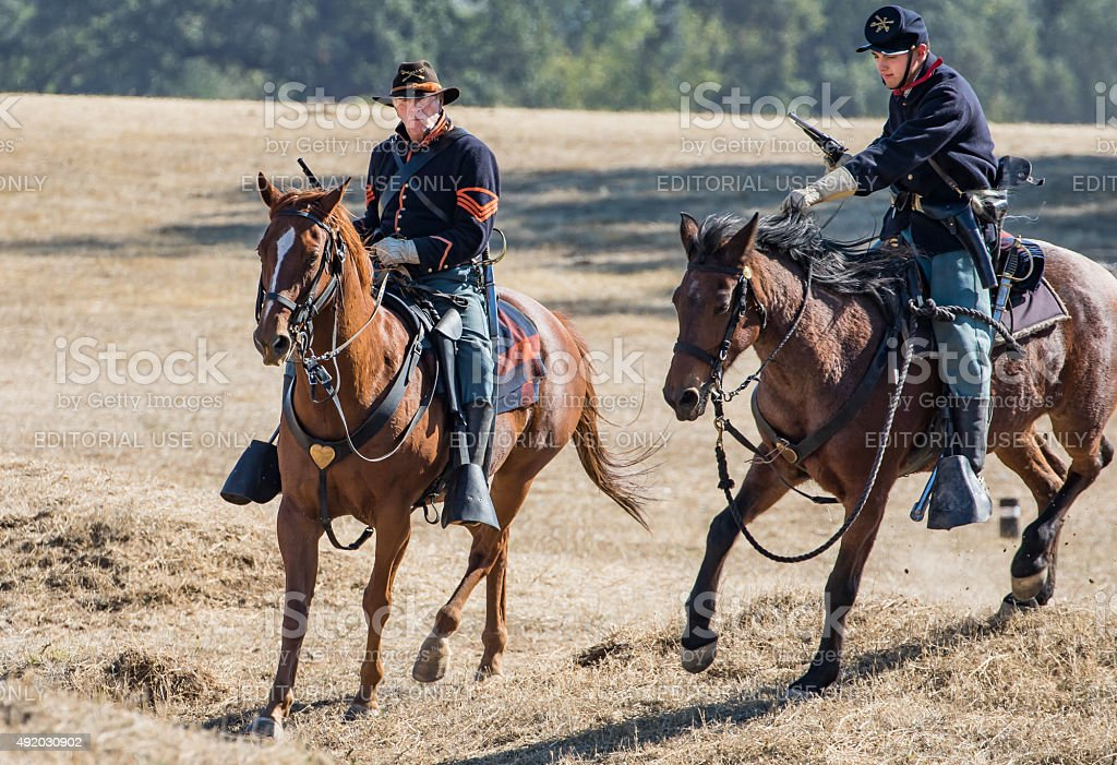 Here Comes the Cavalry stock photo