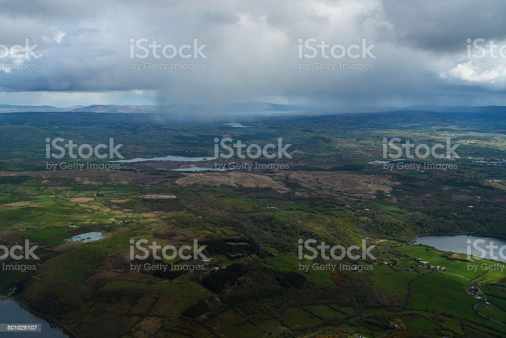 Here comes the rain Sligo Ireland stock photo
