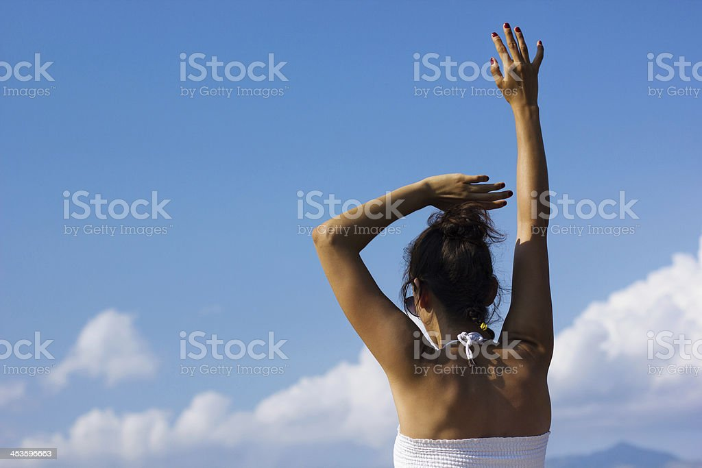 Here I am, Wave goodbye royalty-free stock photo