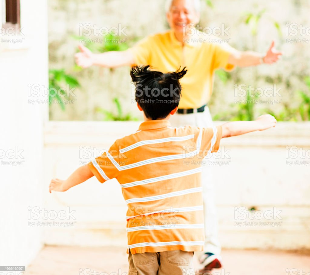 Here I Come royalty-free stock photo