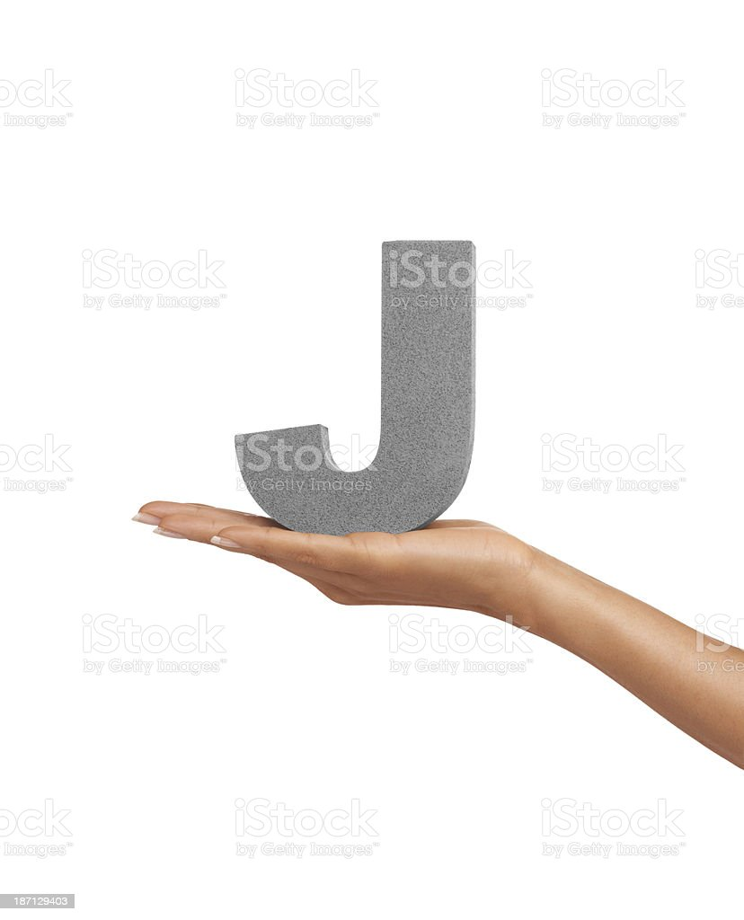 Here is a 'J' royalty-free stock photo