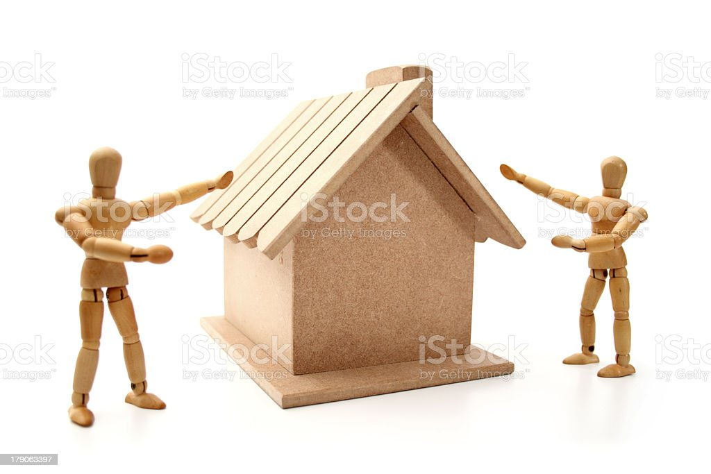 Here is a new house royalty-free stock photo
