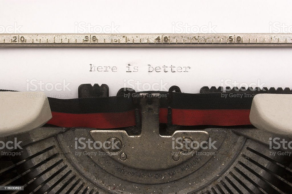 Here is better, sentence royalty-free stock photo