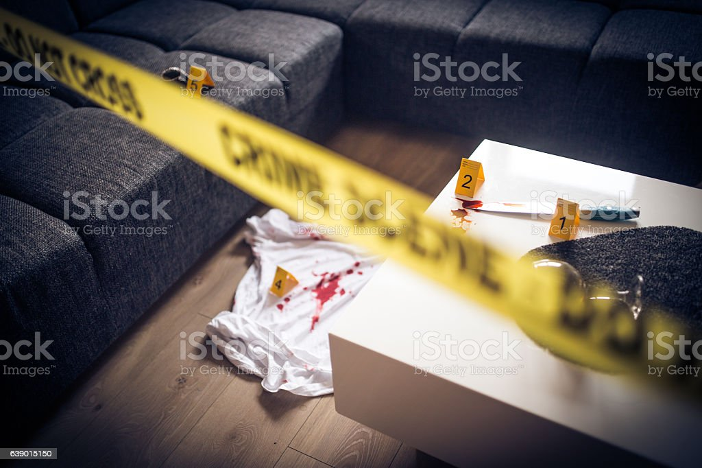 Here is murder stock photo