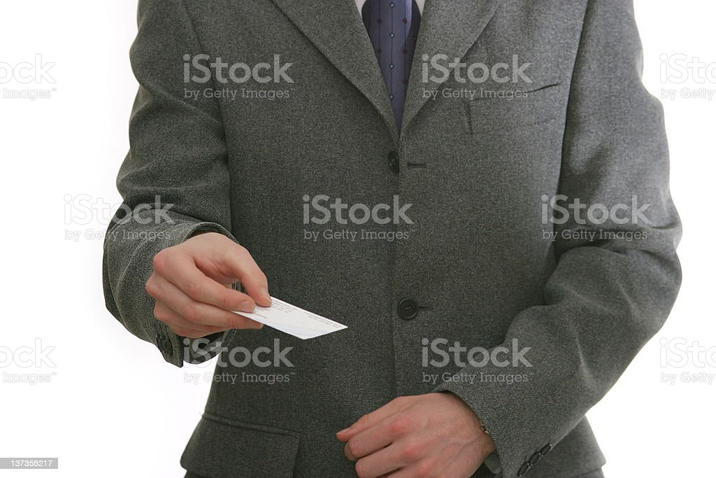 Here is my card royalty-free stock photo