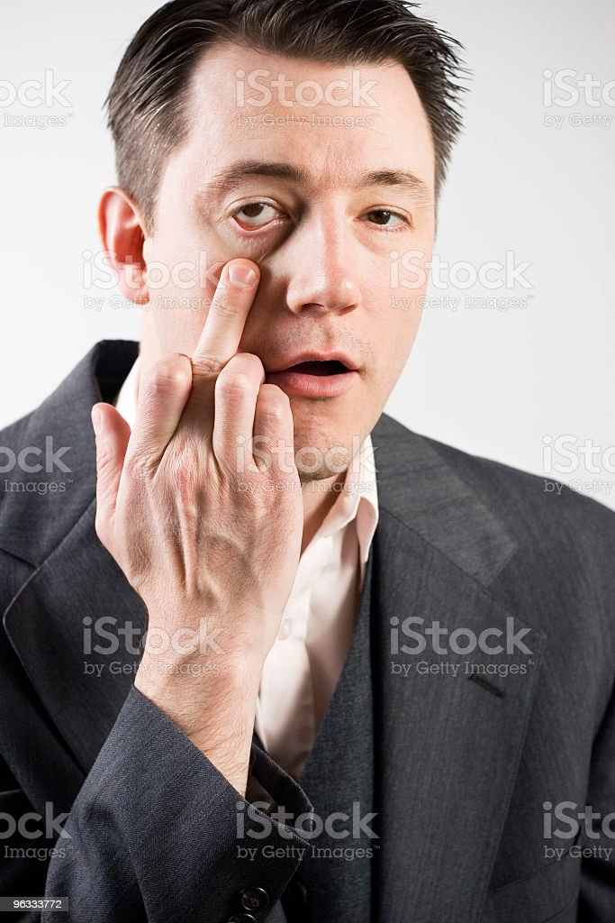 Here Is My Reply stock photo