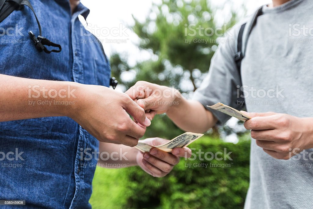 Here is your cash back! stock photo