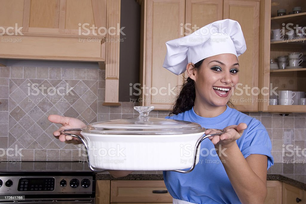 Here is your casserole royalty-free stock photo