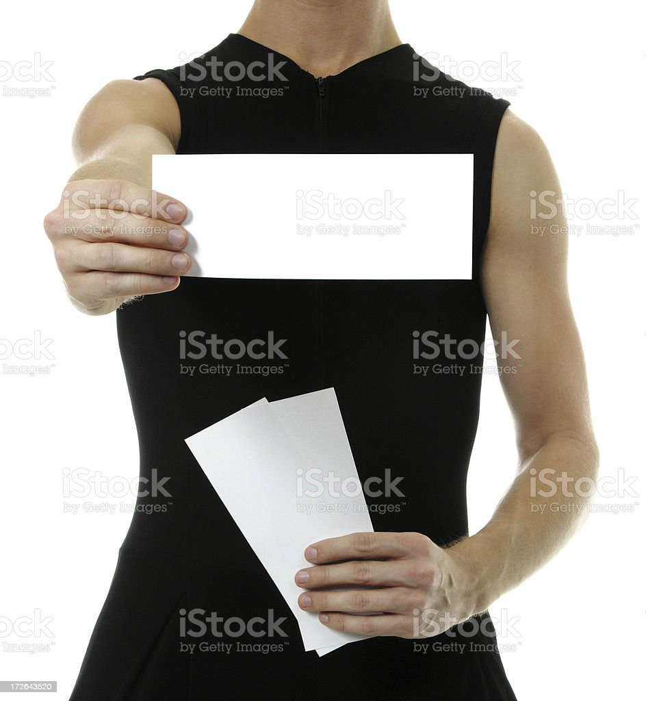 Here it is royalty-free stock photo