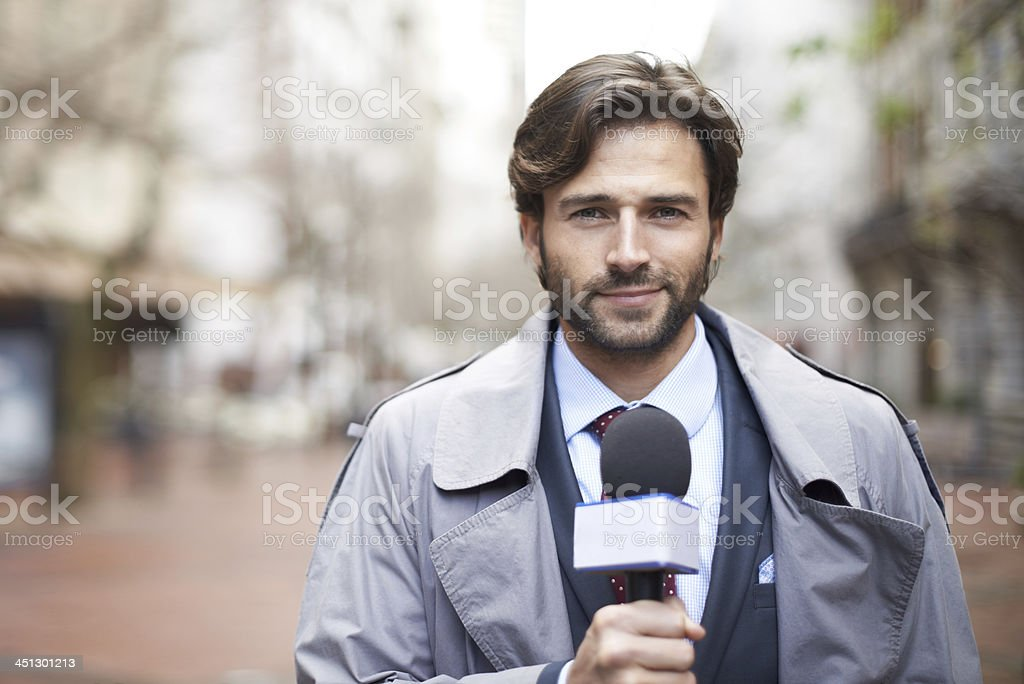 Here on the scene... stock photo