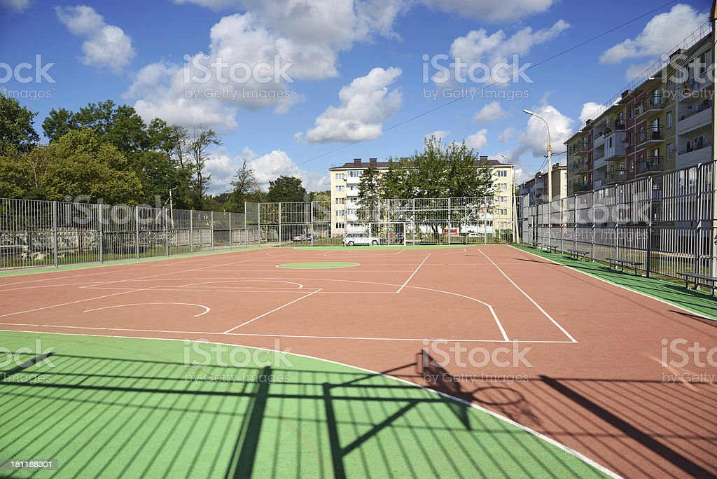 Here people do sport royalty-free stock photo