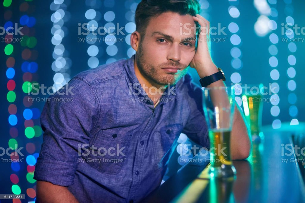 Here to drink all my sorrows away stock photo