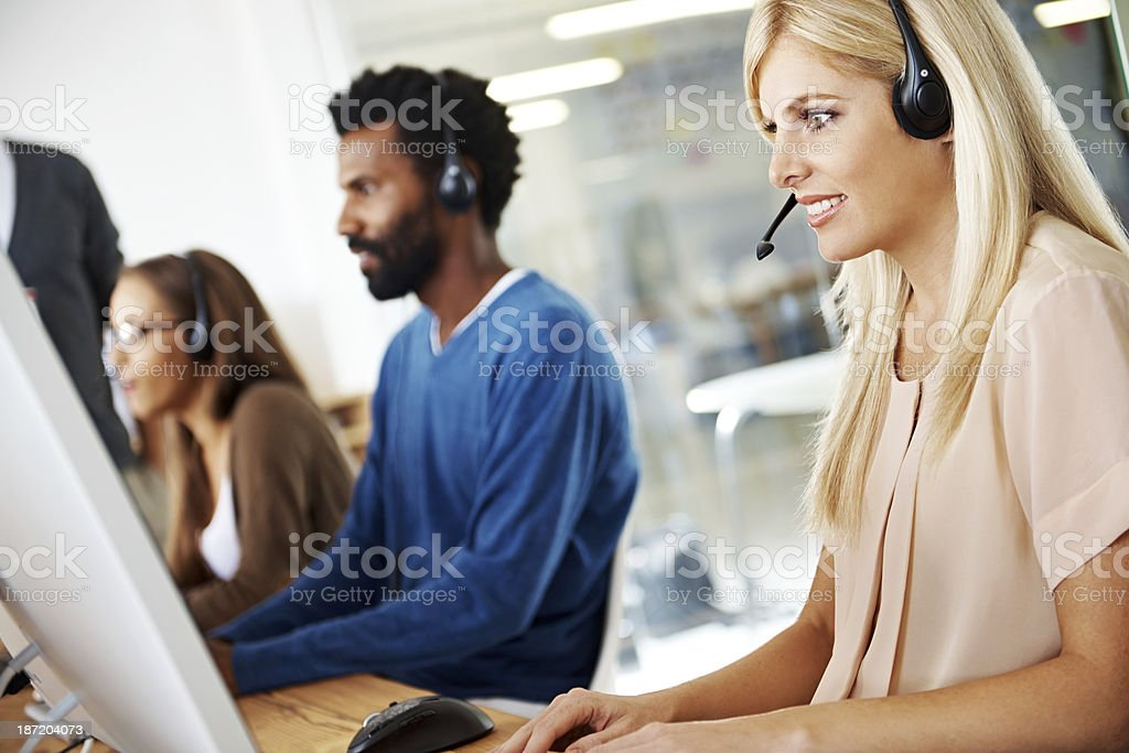 Here to help royalty-free stock photo
