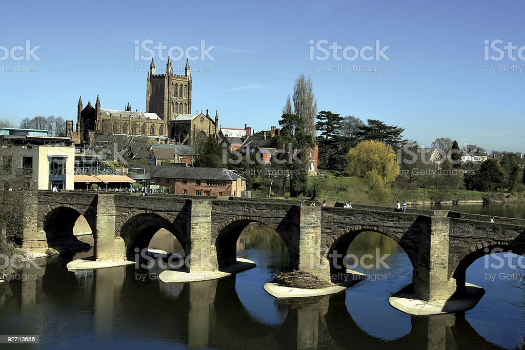 Hereford Cathedral, England stock photo