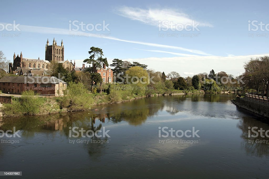 Hereford Cathedral stock photo