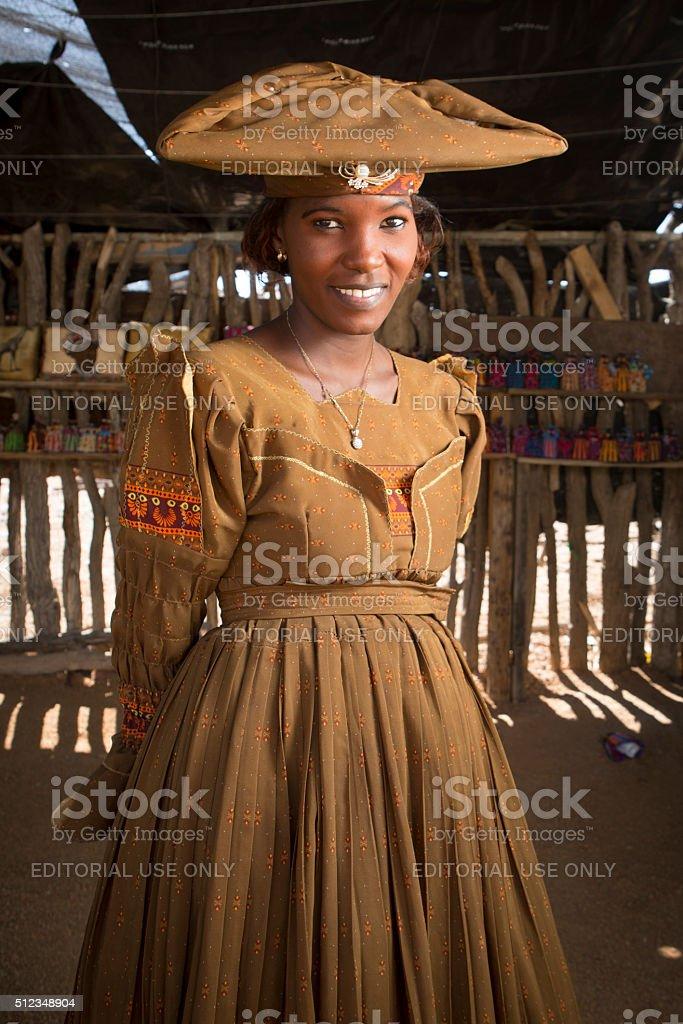Herero woman stock photo