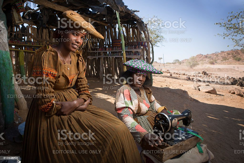 Herero women stock photo