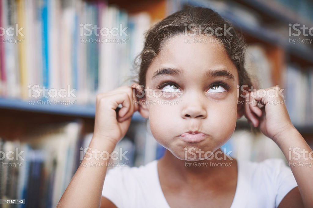 Here's a funny face for you! stock photo
