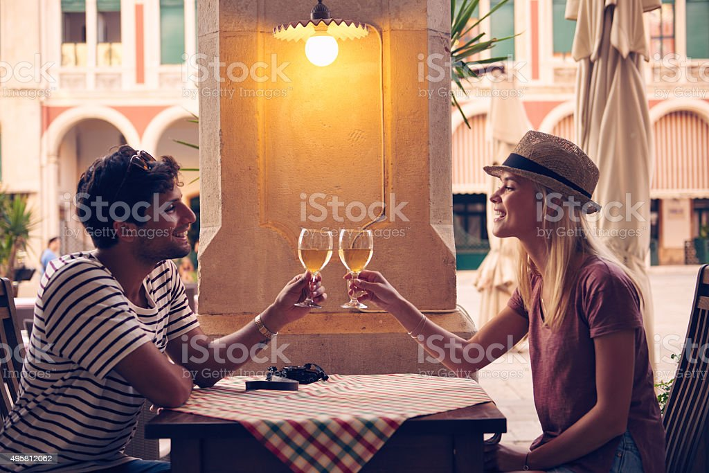Here's to a day well spent stock photo