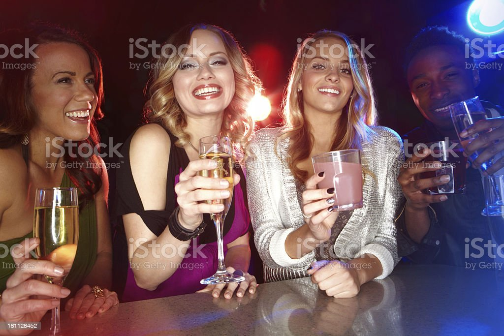Here's to a great night out! royalty-free stock photo