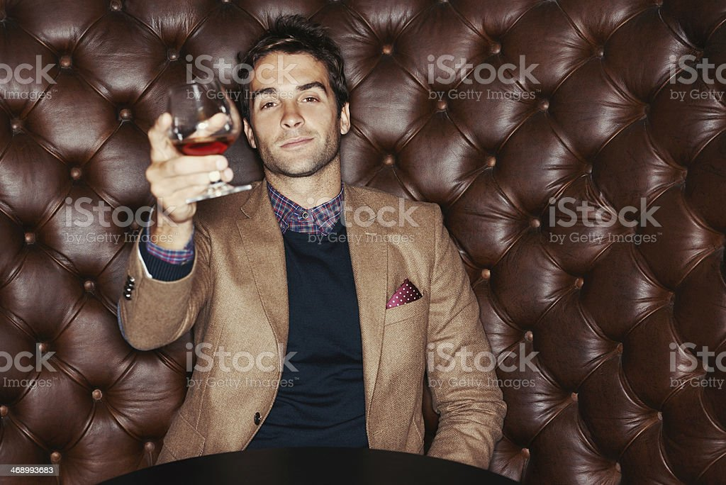 Here's to a great night stock photo
