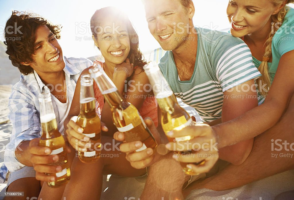 Here's to a great vacation! stock photo