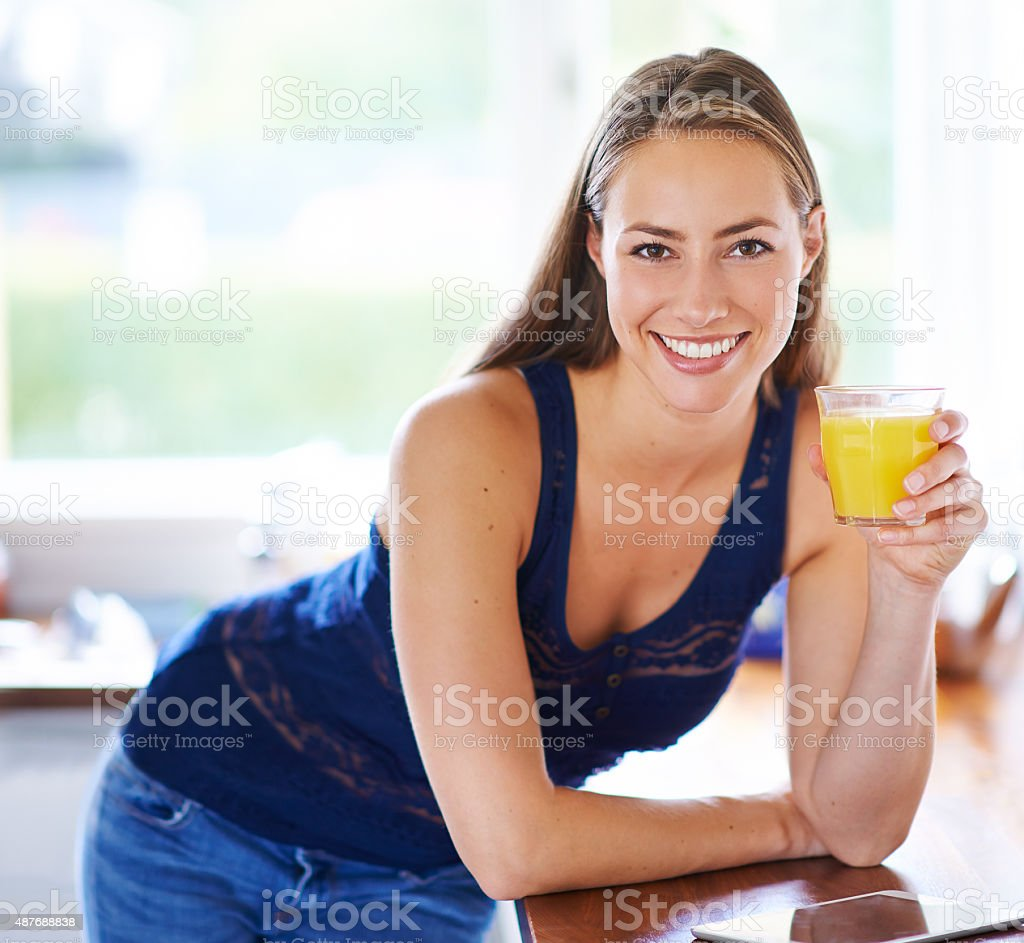 Here's to a juicy day ahead... stock photo