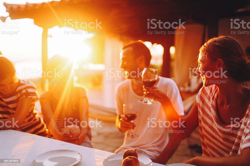 Here's to our friendship! stock photo