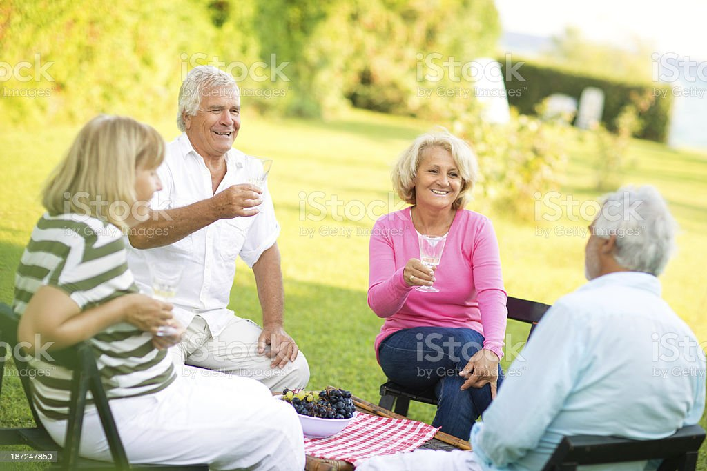 Here's to retirement! royalty-free stock photo