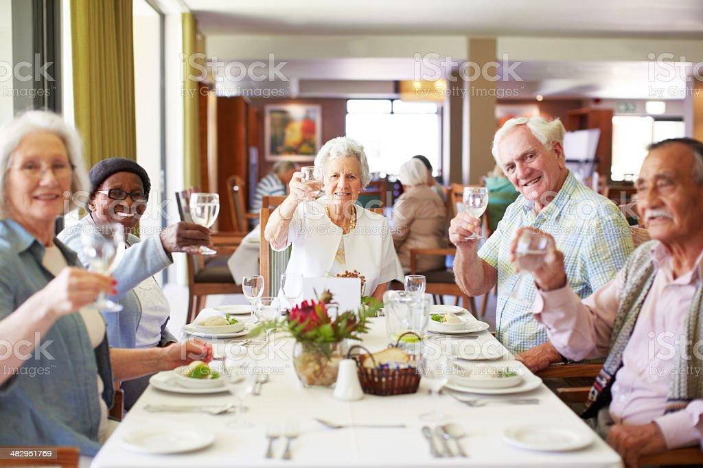 Here's to retirement! stock photo