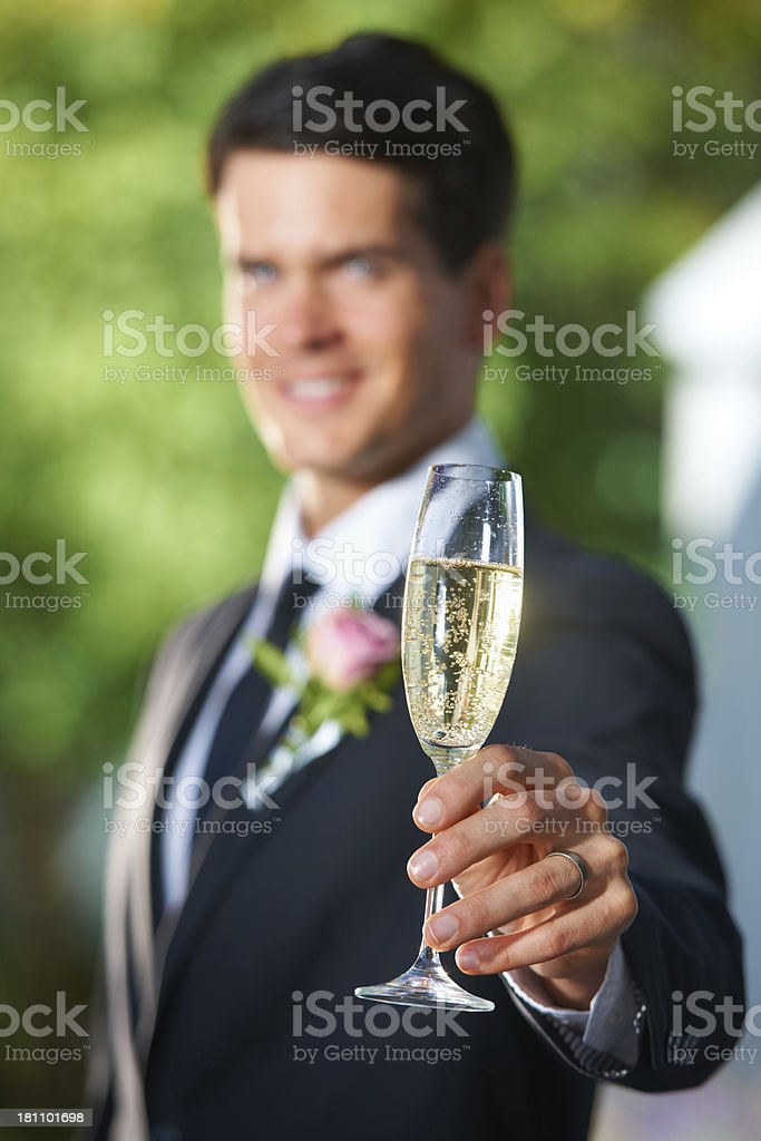Here's to the new couple royalty-free stock photo