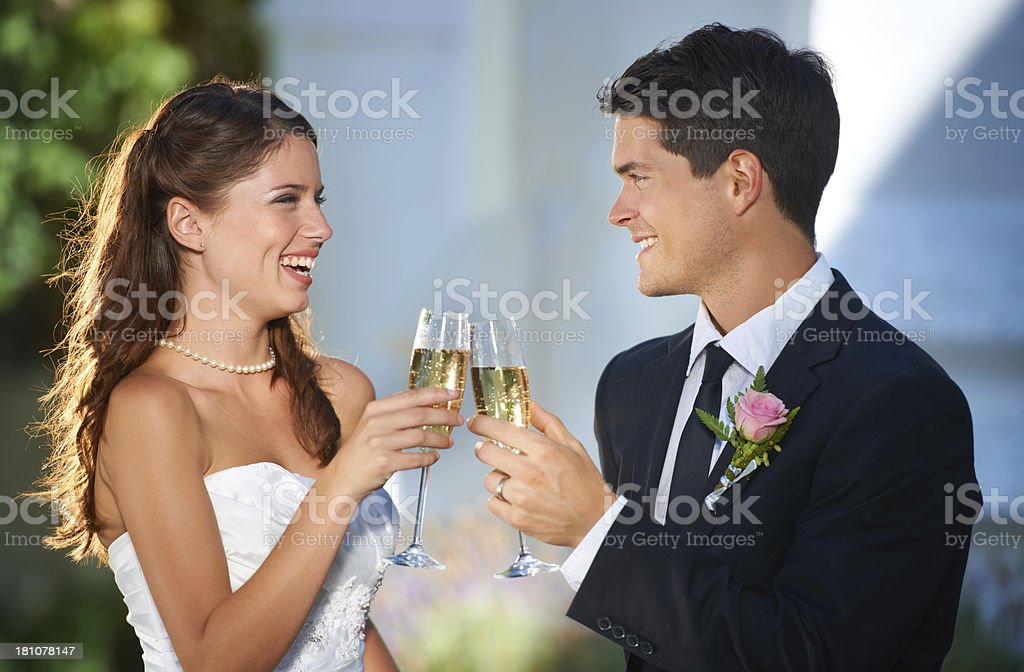 Here's to us and the rest of our lives royalty-free stock photo