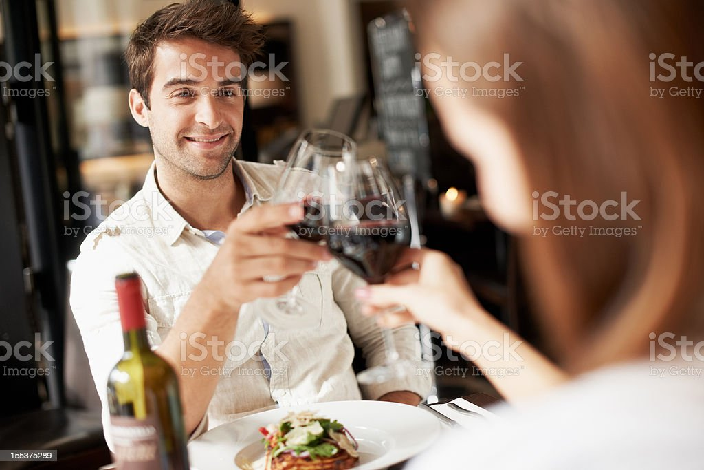 Here's to us! royalty-free stock photo