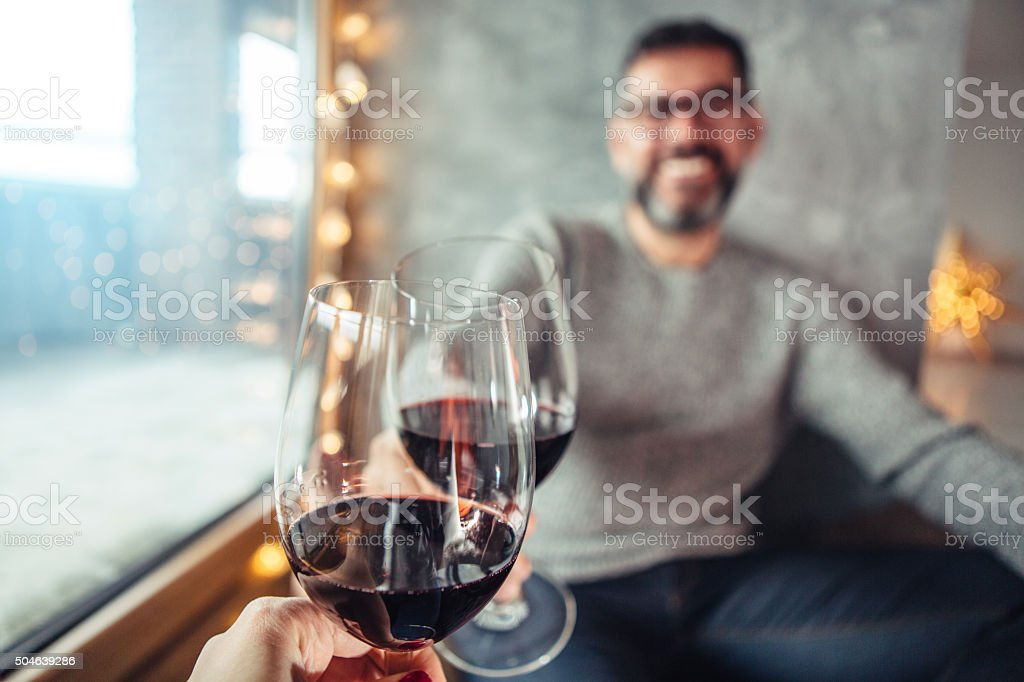 Here's to us! stock photo