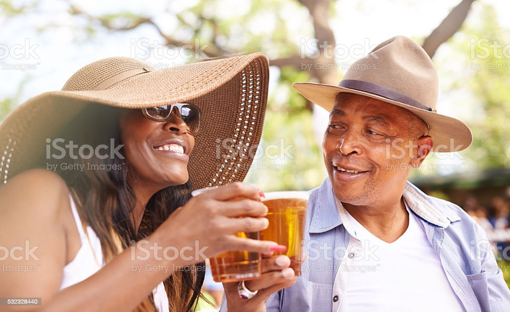 Here's to us stock photo