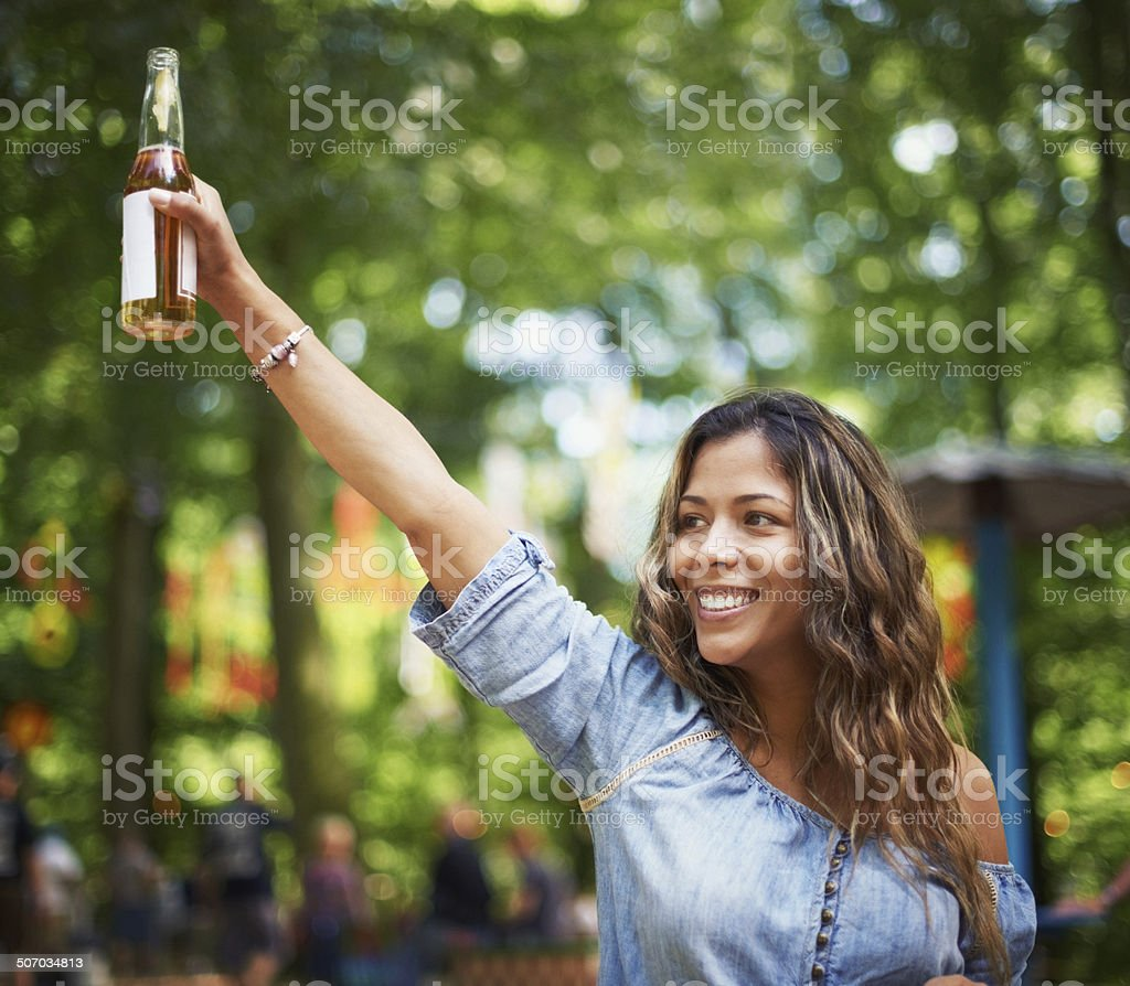 Here's to your awesome music! stock photo