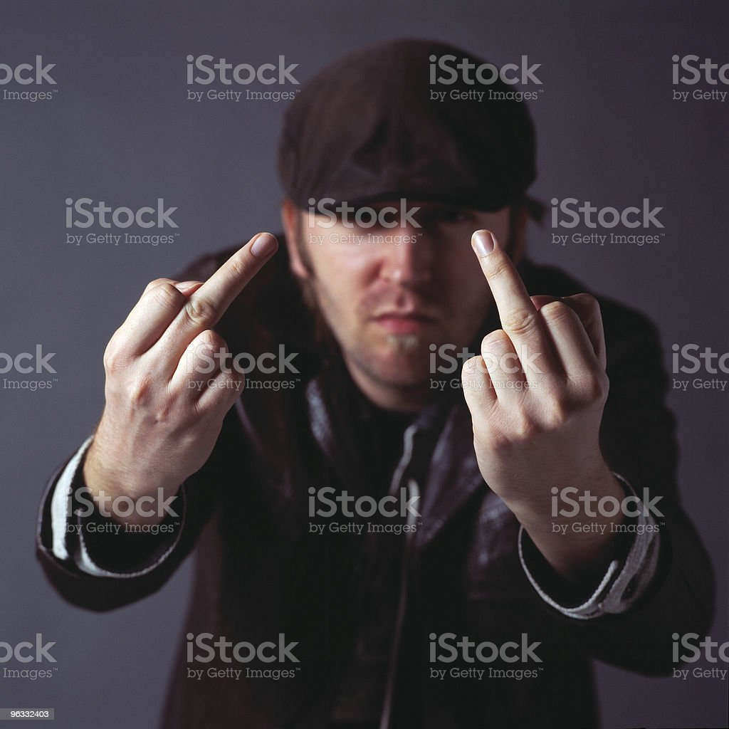 Here's what I think of you! royalty-free stock photo