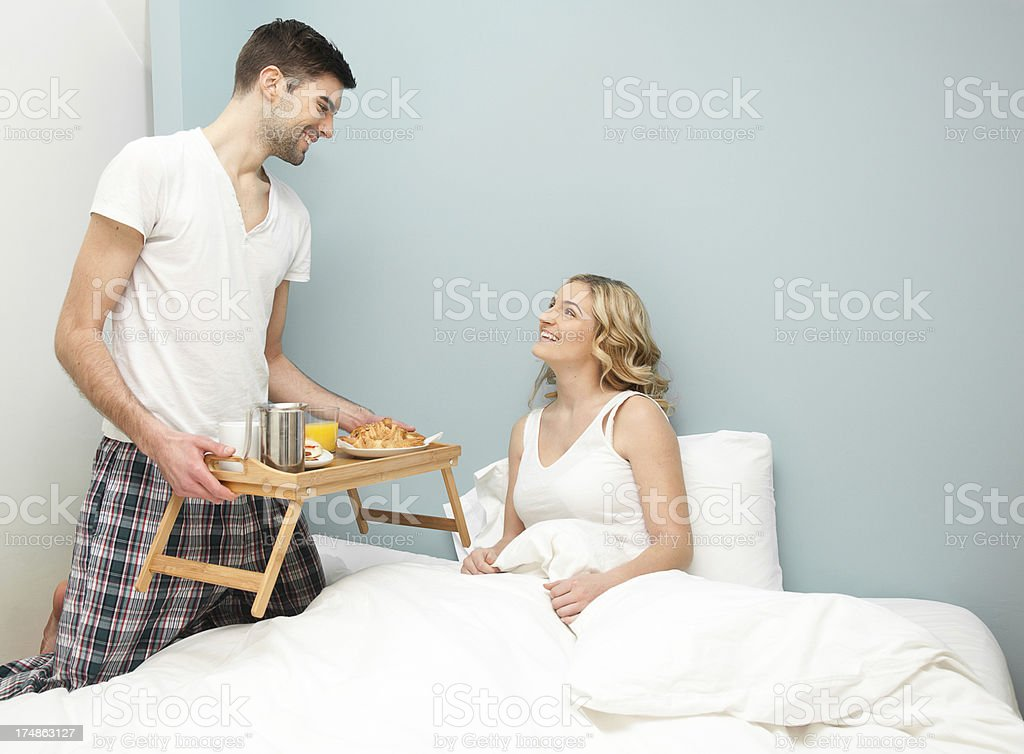 Here's your breakfast, my dear royalty-free stock photo