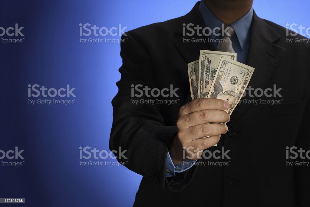 here's your cash royalty-free stock photo