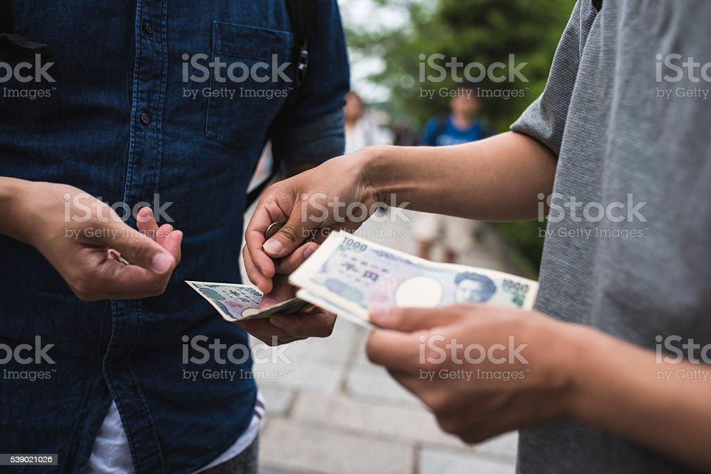 Here's your money stock photo