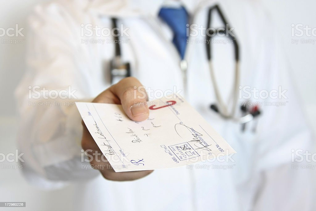 Here's your prescription! stock photo