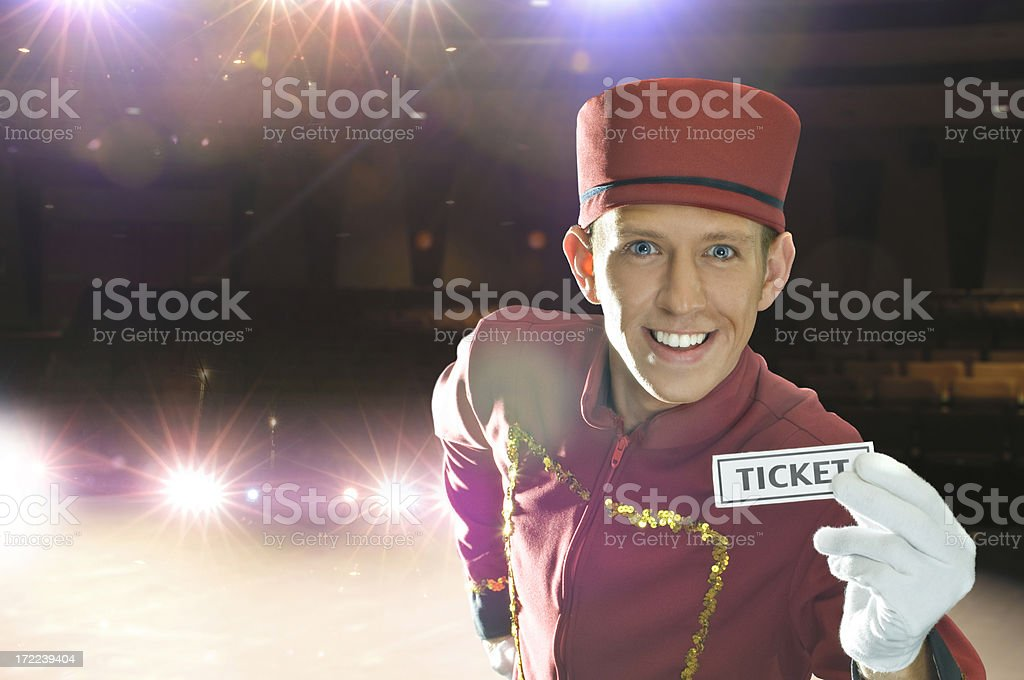 Here's Your Ticket stock photo