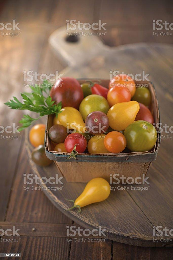 Heriloom Cherry Tomatoes royalty-free stock photo