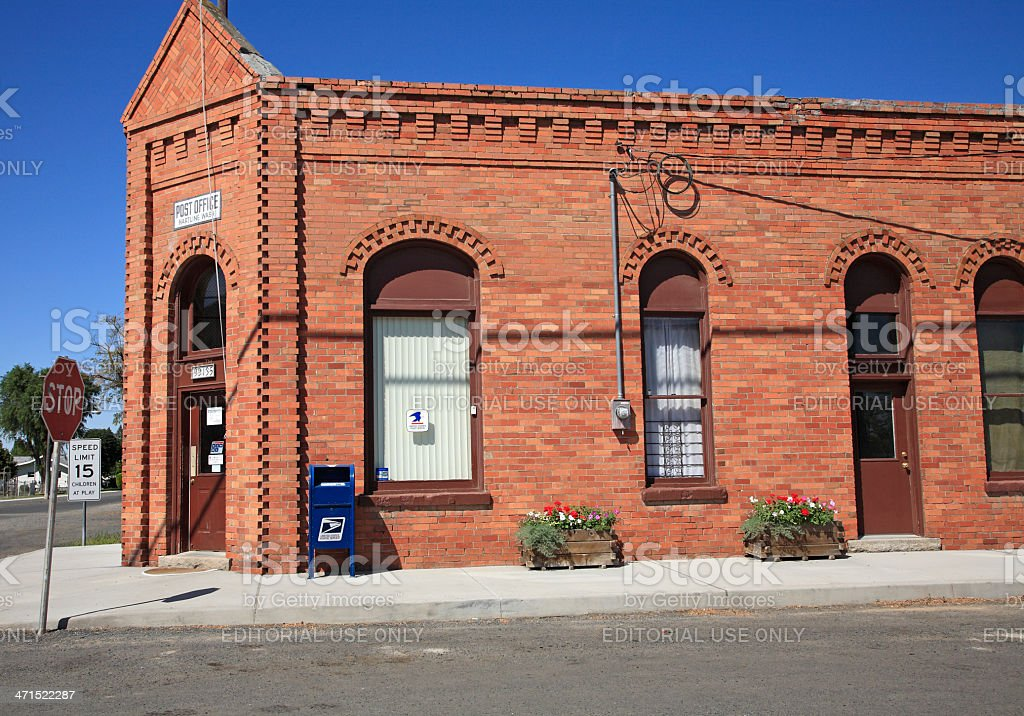 Heritage Brick In Small Town Washington State royalty-free stock photo