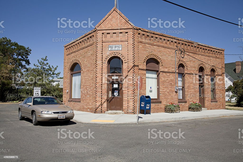 Heritage Brick.  Post Office Hartline Washington stock photo