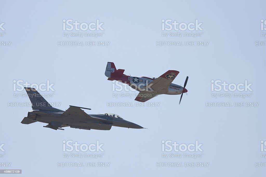 USAF Heritage Flight royalty-free stock photo